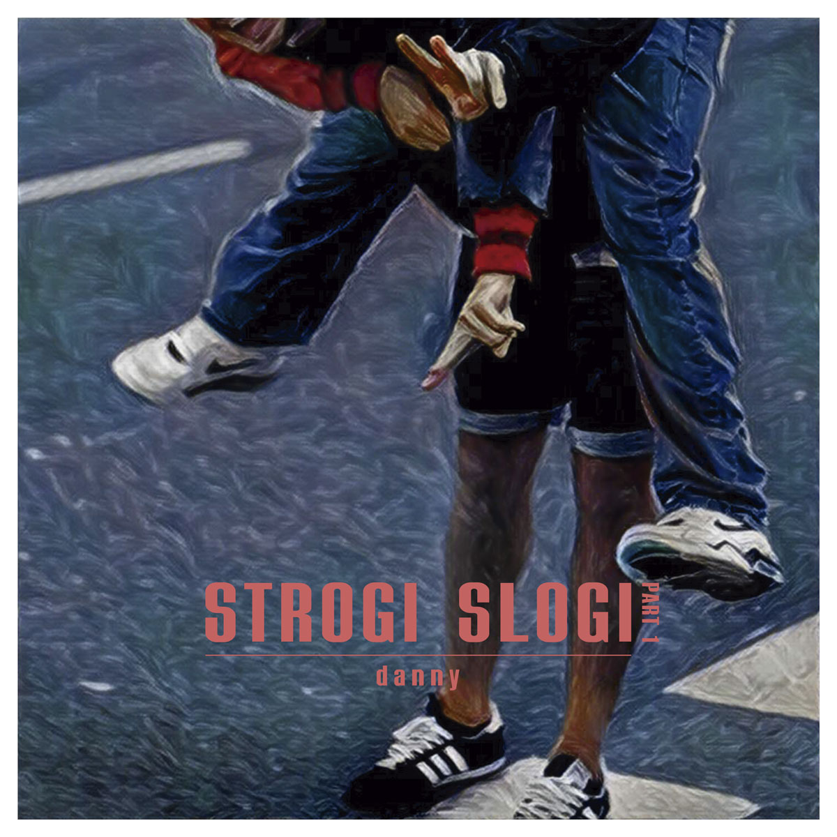 "Front cover and artwork of Danny's EP ""Strogi Slogi (Part 1)"""